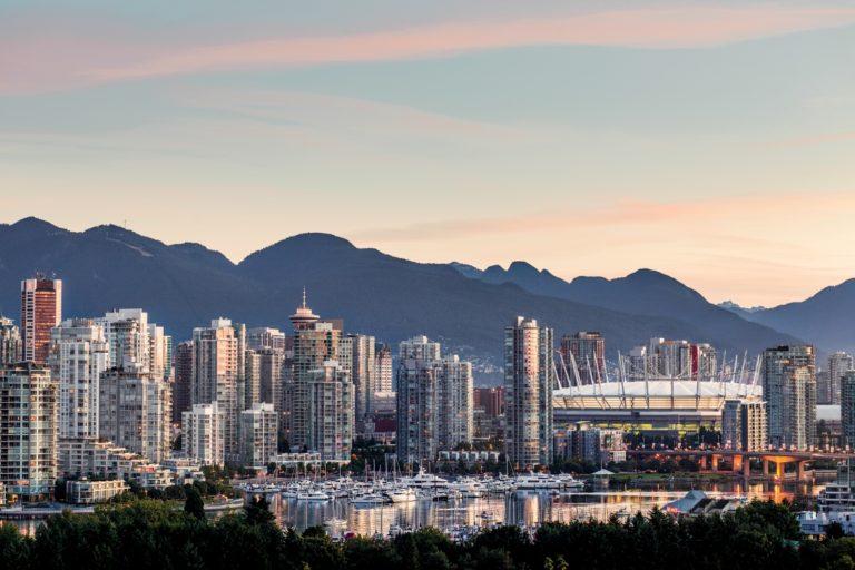 Vancouver skyline at Sunrise